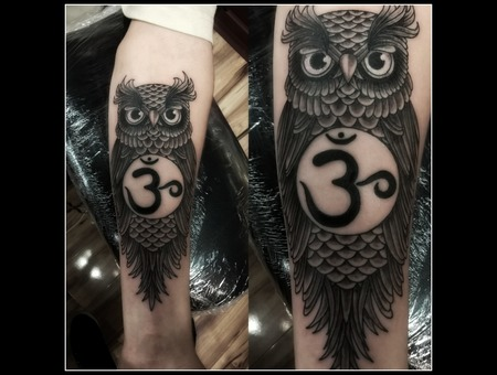 Black & Grey  Owl  Forearm Black Grey Forearm
