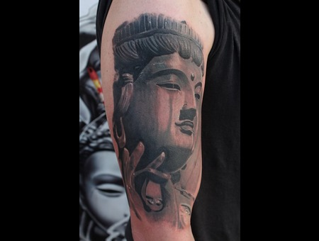 Buddha Tattoo Mumbai  Black Grey Arm