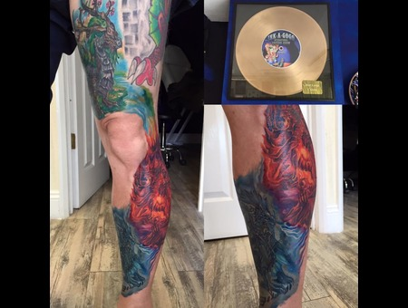 #Bestoflargecolour #Colourtattoo #Realistictattoo #Realism Color Lower Leg