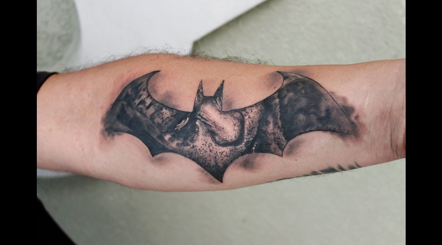 Batman  Joker  Black And Grey  Super Hero Black Grey Forearm