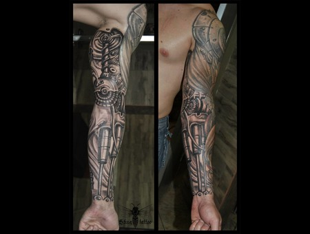 Biomechanic  Sleeve Black Grey Arm
