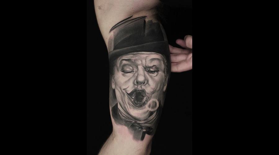 Joker Jack Nicholson Black Grey