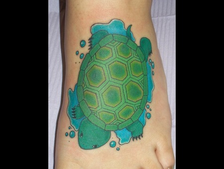 Foot  Color  Green  Turtle  Water   Color