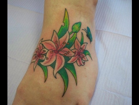 Foot  Flower  Cover Up  Color  Bug  Butterfly  Pink  Lady Color