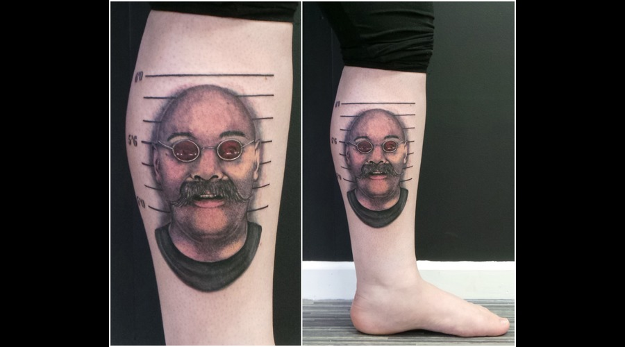 Charlie Bronson  Portrait Color Lower Leg