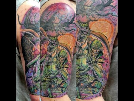 Green Arrow  Comic  Comic Tattoo  Hero  Superhero Color Arm