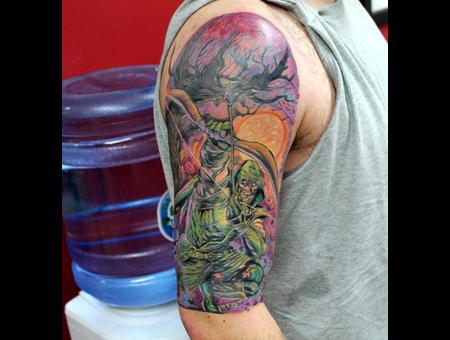 Comic  Super Hero  Hero  Tattoo  Comic Tattoo Color Arm