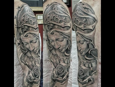 Virgin Mary  Realism  Statue  Realistic  Sculpture  Angel Black Grey Arm