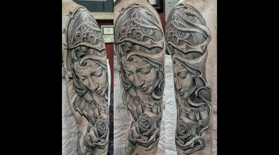 Virgin Mary  Realism  Statue  Realistic  Sculpture  Angel Black Grey Arm