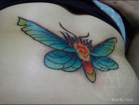 Under Breast Death Moth Color Chest