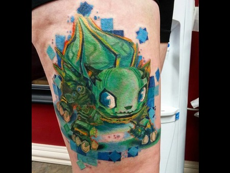 Bulbasaur  Pokemon  Cartoon  Pixelation  New School  Color Thigh