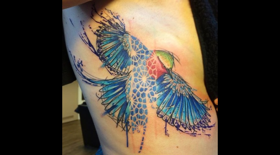 Tattoo  Art  Bird Color Ribs