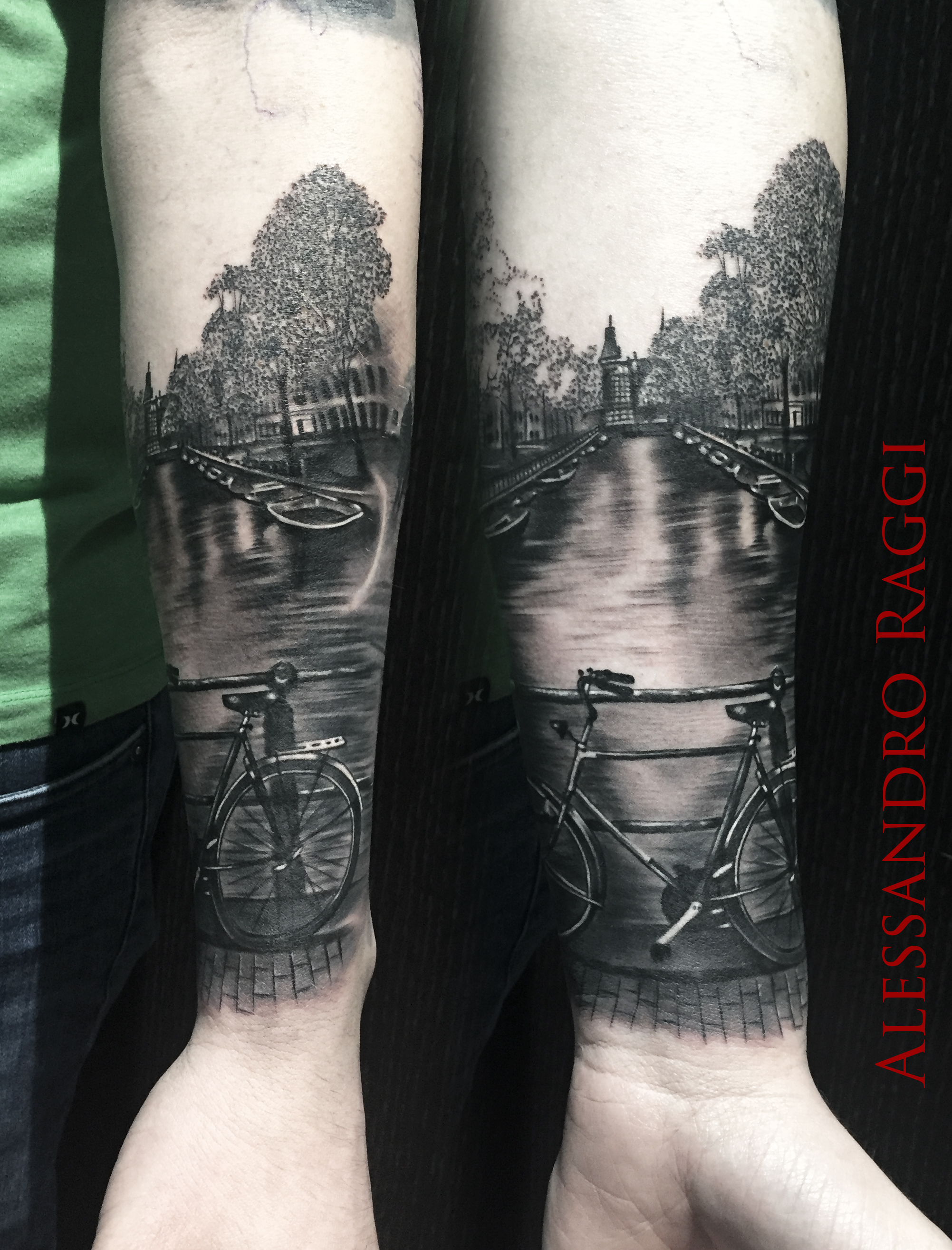 Alessandro raggi certified artist for Amsterdam tattoo artists