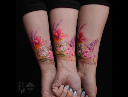 Watercolour  Geometry  Watercolor  Mandala  Art  Lace  Flower  Space  Uk Color Forearm