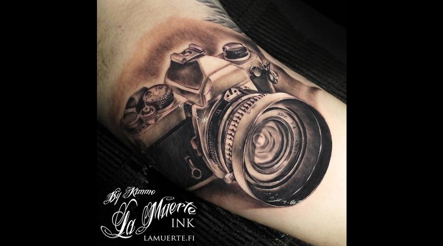 Camera Black Grey Arm