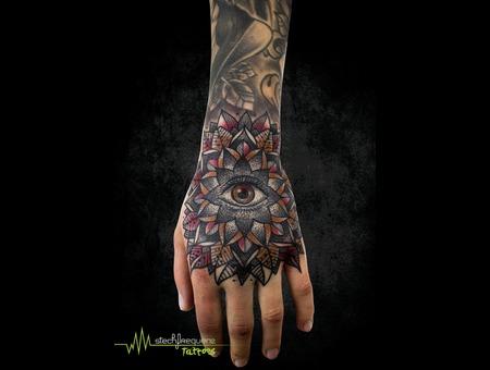 Mandala  Eye  Dotwork Color Arm