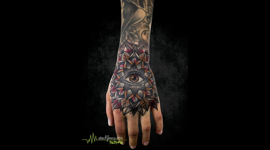 Mandala  Eye  Dotwork Color Arm