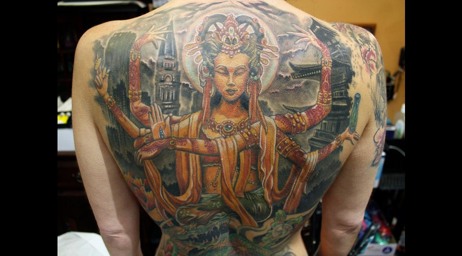 Kuan Yin  Indian  Goddess  Awesome  Hindu  Beautiful  Portrait  Amazing   Color Back