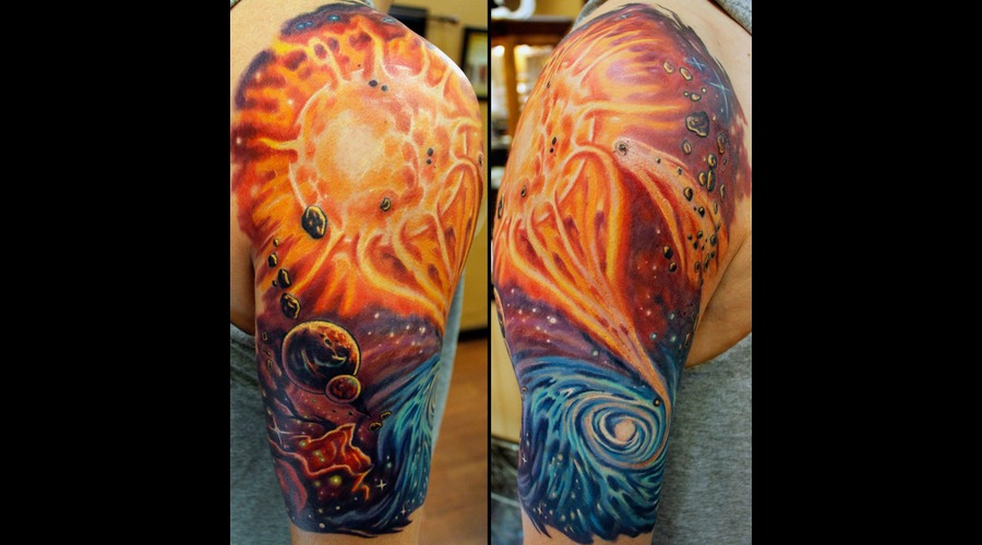 Space  Sleeve  Colorful  Planets  Stars  Starry  Badass  Awesome   Color Arm