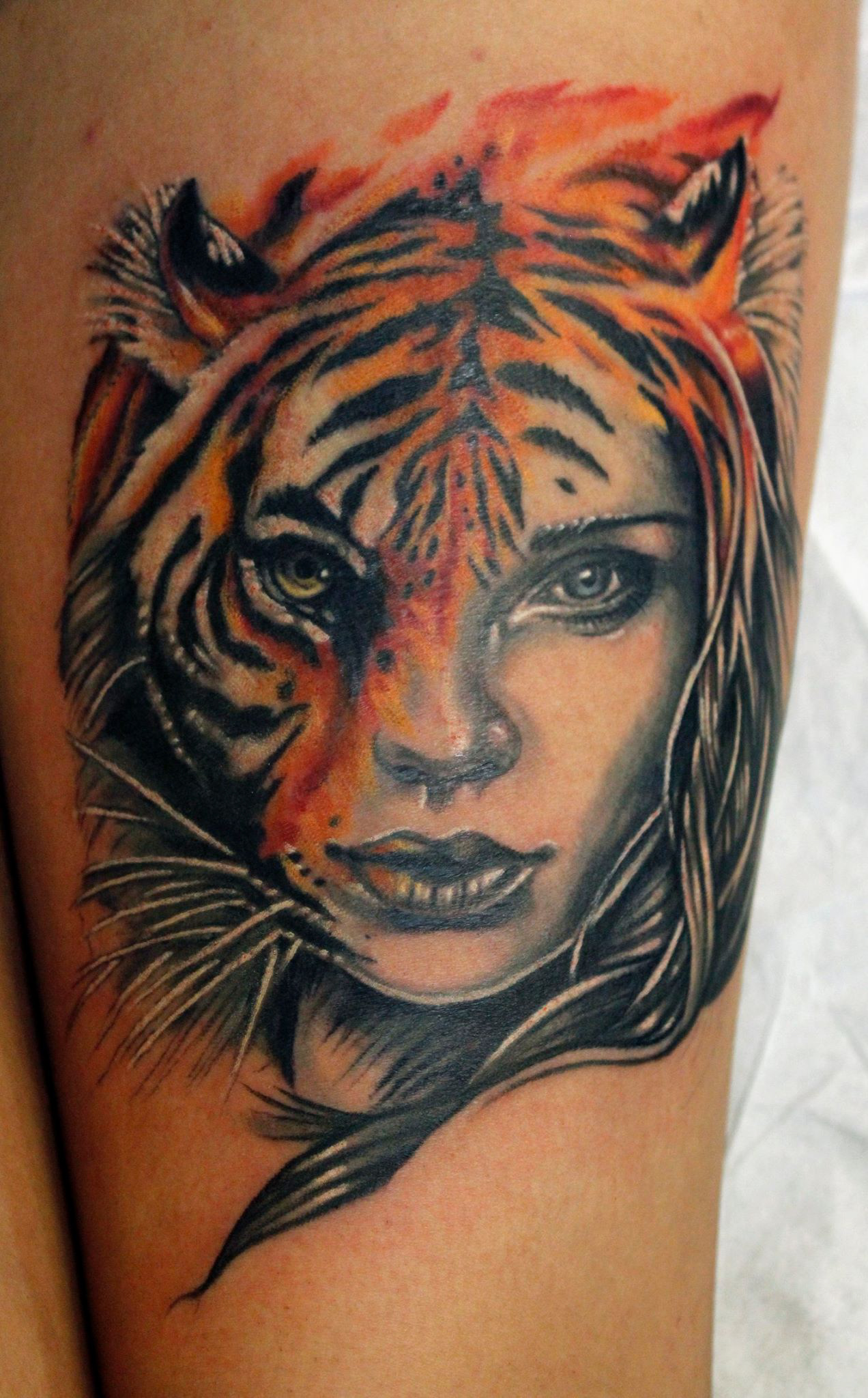Sean ambrose certified artist for Tiger tattoo for girl