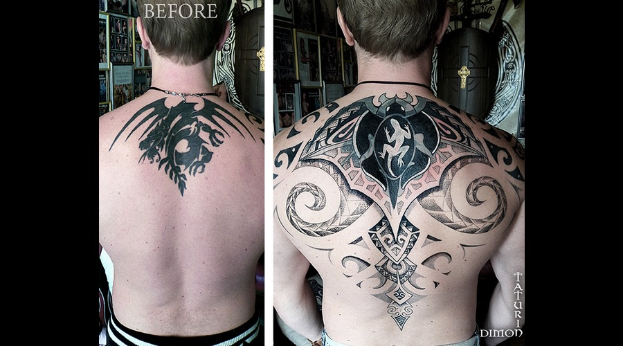 Cover Up In Progress By Dimon Taturin Black Grey Back