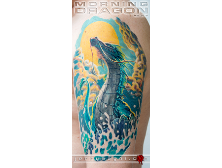 Dragon  Sea  Water  Sun Color Arm