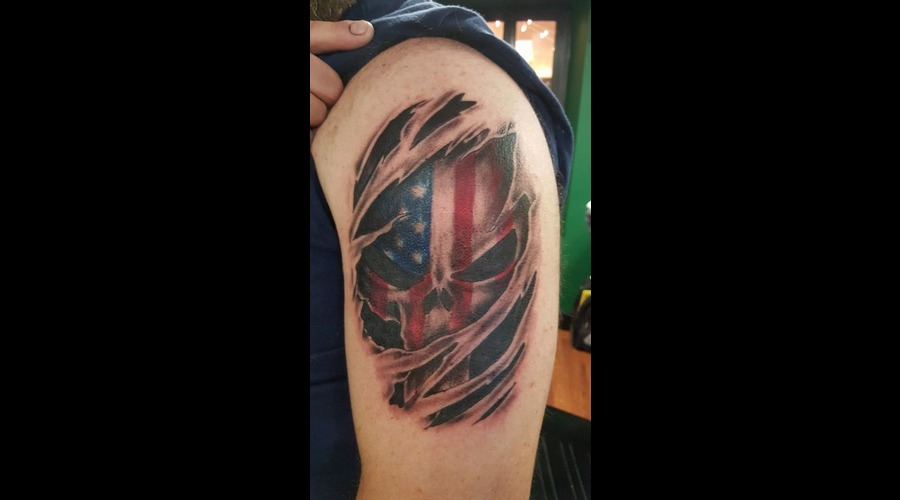 American Flag Punisher Color Arm