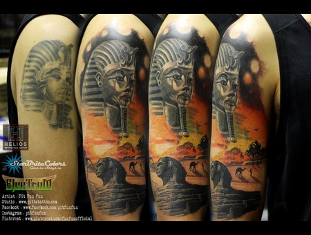Redo Pharoah And Add On Sphinx  Black Grey