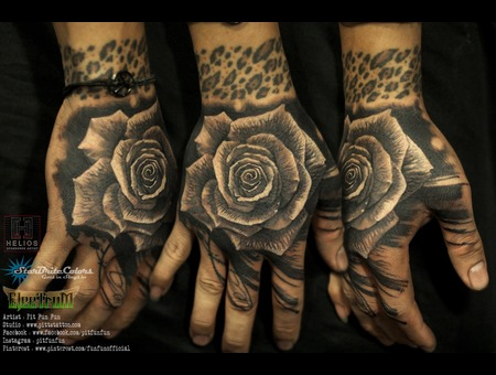 Black And Grey Realistic Rose Tattoo . Facebook : Fun Fun Official Page   I Black Grey