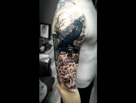 Cleopatra Ink Tattoo Black Grey Arm