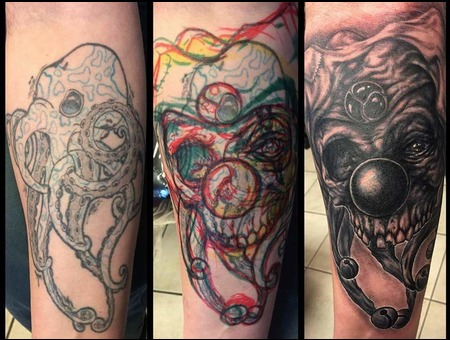 Cover Up  Black And Grey Tattoo  Freehand Tattoo  Black Grey Arm
