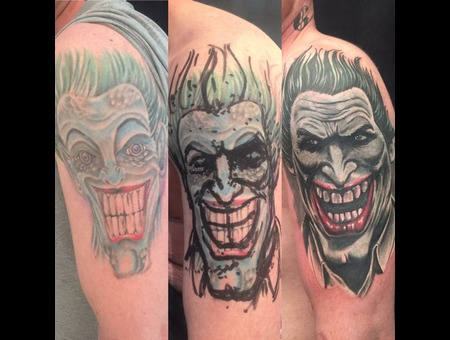 #Joker #Coveruptattoo  Color Shoulder