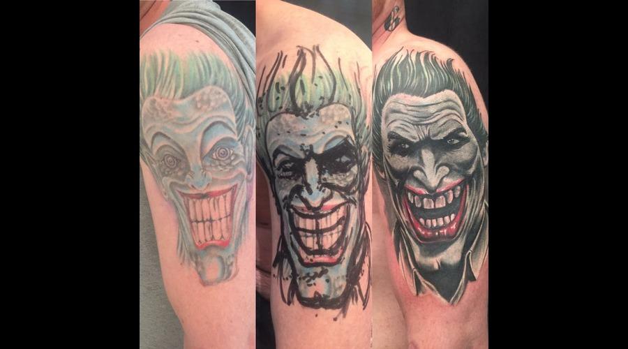 #Joker #Coveruptattoo  Color Shoulder