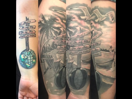 #Coveruptattoo  Black Grey Forearm