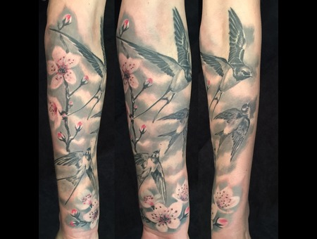 Black Grey Forearm