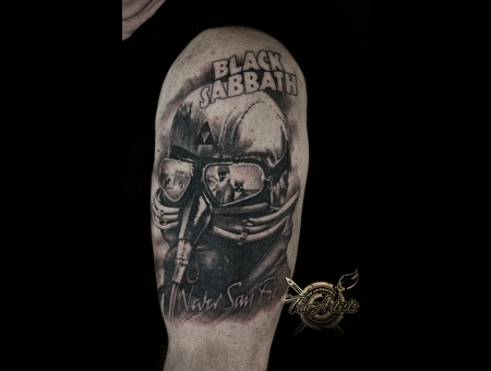 Black Sabbath Black Grey Arm