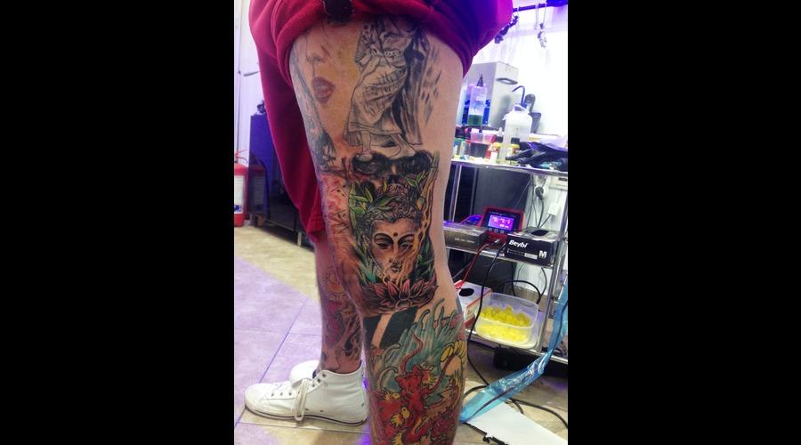 Japanisse Tattoomarmaris Marmaristattoo Artinctattoomarmaris Color Lower Leg