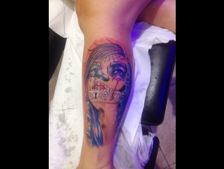 Mexican Marmaristatttoo Tattoo Marmaris Artinctattoo  Color Lower Leg