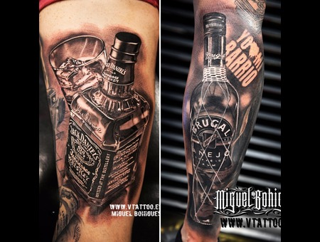 Jack Daniels  Ron Brugal  Realism Black Grey