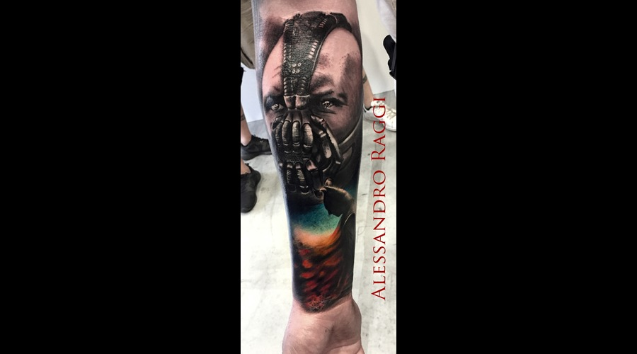 Batman Bane Realistic Goth Dark Comics Movie Dark Knight  Color Forearm