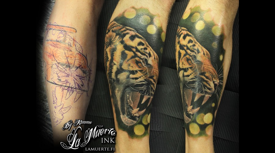 Coverup  Realistic  Tiger  Animal  Cat  Color  Realism Color Forearm