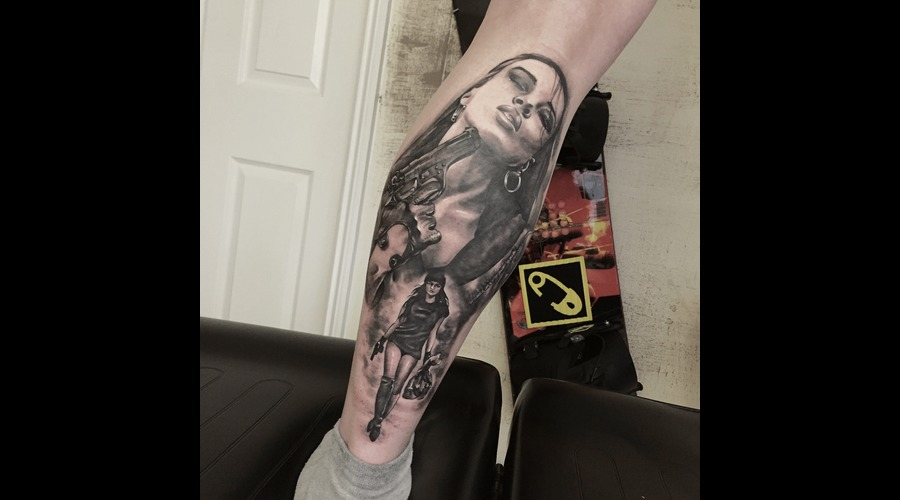 #Blackandgreytattoos #Realistictattoos #Realism #Inprogress Black Grey Lower Leg