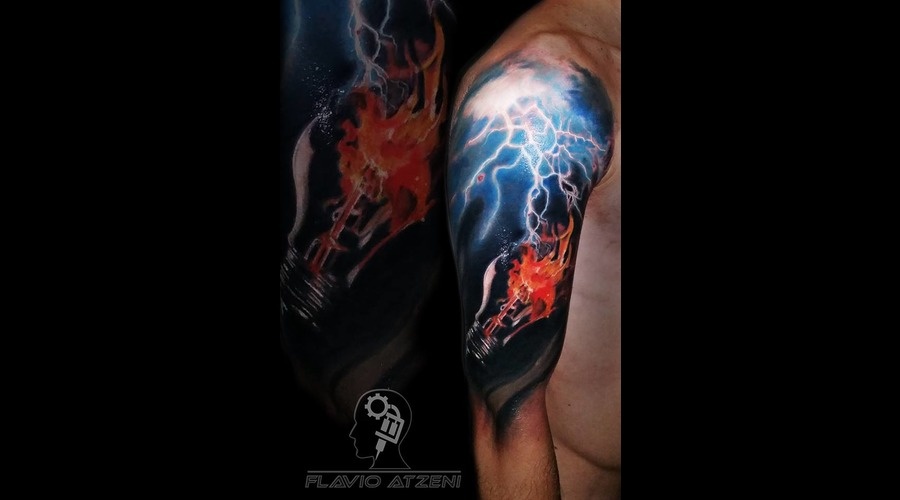 Realistic  Thunder  Light  Fire  Coloured  Electricity  Color Arm