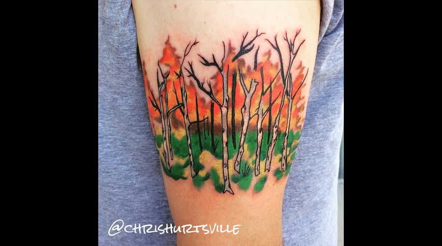 Alpine Forest  Forest Tattoo Color Arm