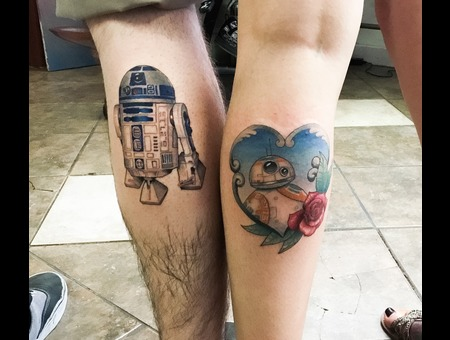 Star Wars  Bb8  R2d2  Love Color Lower Leg
