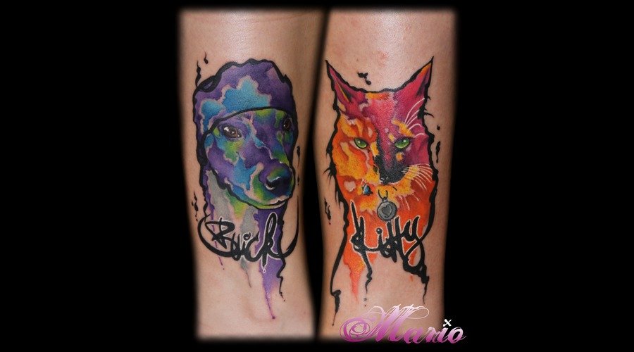 Cat And Dog Color Forearm
