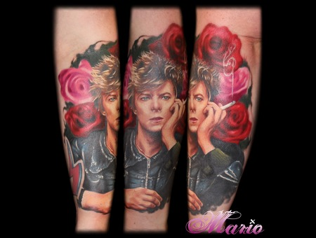 David Bowie Portrait Color Forearm