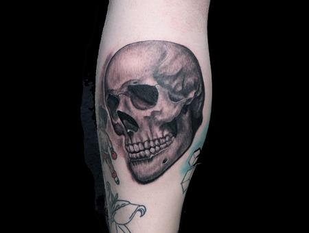 Skull  Skulls Black Grey