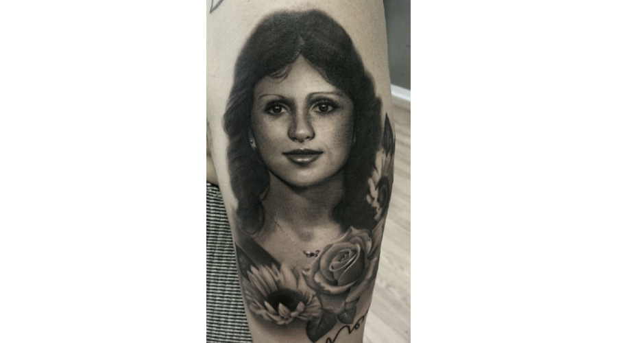 Portrait  Realism   Black And Gray  Black Grey Arm