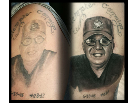 Portrait  Realism  Black And Gray  Cover Up   Black Grey Arm